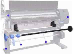 "Q6652-60049 - Spindle Rod 60"" - HP Z6100 6100ps Designjet Printer 1st Call 4 Service Ltd Birmingham West Midlands UK"